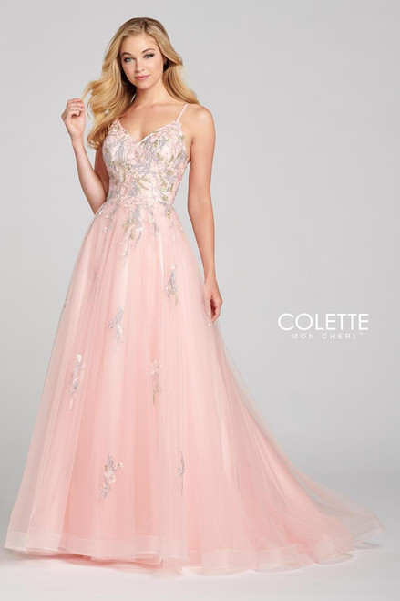 Colette by Mon Cheri CL12138 Sleeveless Tulle Gown