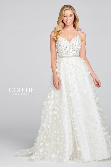 Colette by Mon Cheri CL12140 Sleeveless Glitter Tulle Gown