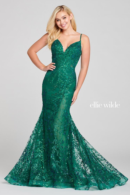 Ellie Wilde by Mon Cheri EW121011 Sleeveless Glitter Gown