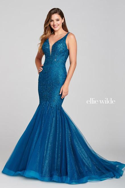 Ellie Wilde by Mon Cheri EW121044 Sleeveless Trumpet Gown