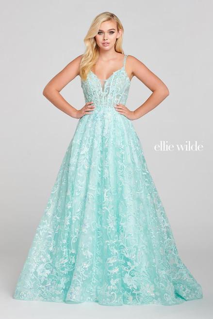 Ellie Wilde by Mon Cheri EW121058 Sleeveless A-line Gown