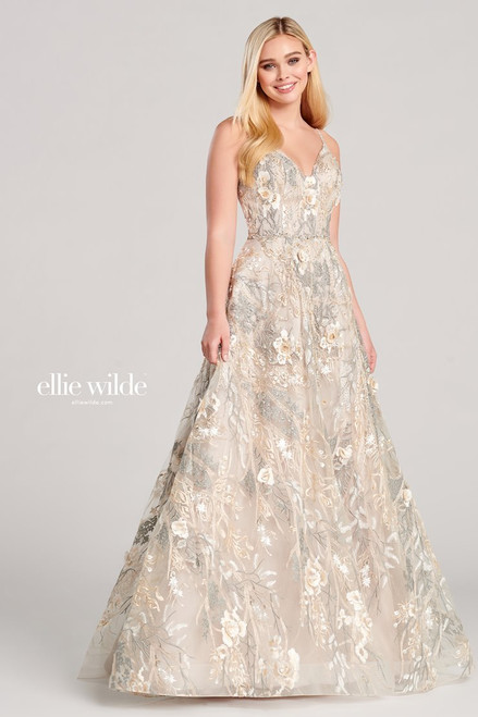 Ellie Wilde by Mon Cheri EW22031 Sleeveless A-line Gown
