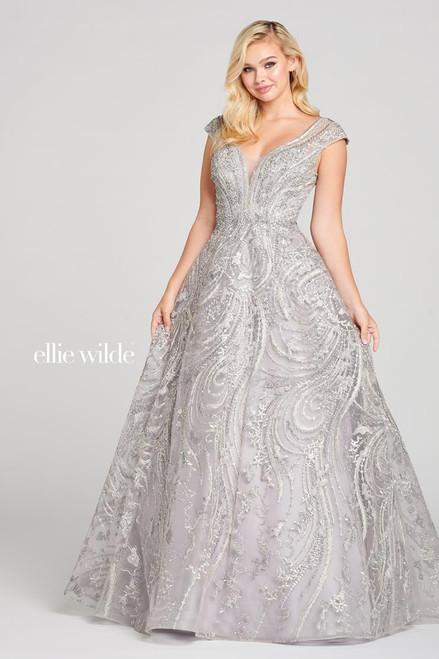 Ellie Wilde by Mon Cheri EW121021 Cap Sleeve Ball Gown