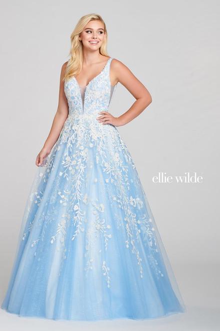 Ellie Wilde by Mon Cheri EW121028 Sleeveless V-neck Gown