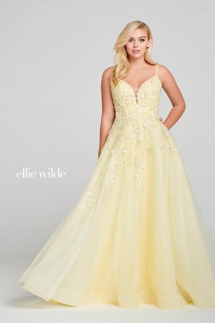 Ellie Wilde by Mon Cheri EW121062 Sleeveless V-neck Gown