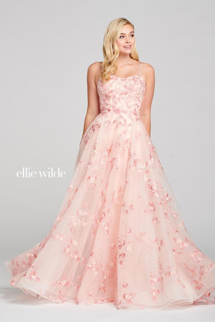 Ellie Wilde by Mon Cheri EW121066 Sleeveless A-line Gown