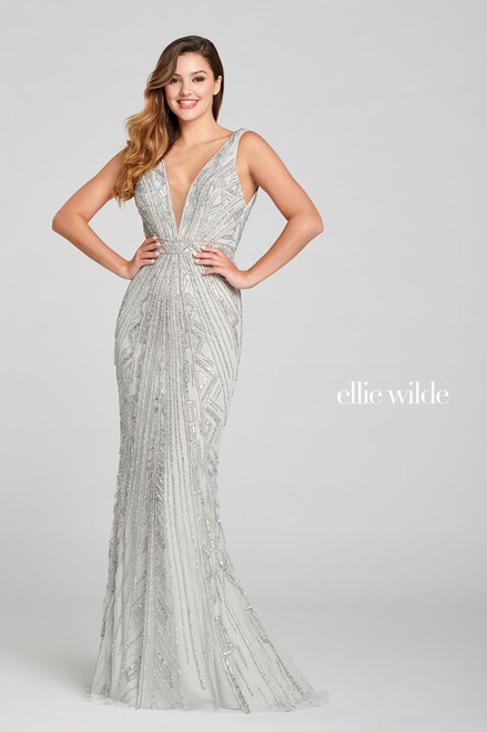 Ellie Wilde by Mon Cheri EW121068 Sleeveless Tulle Gown