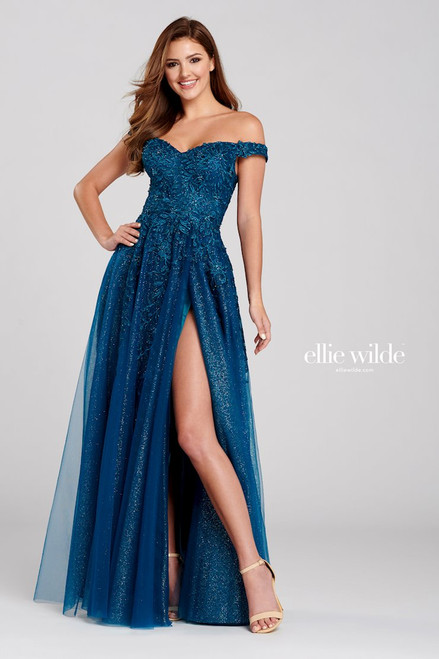 Ellie Wilde by Mon Cheri EW120114 Embroidered A-line Gown