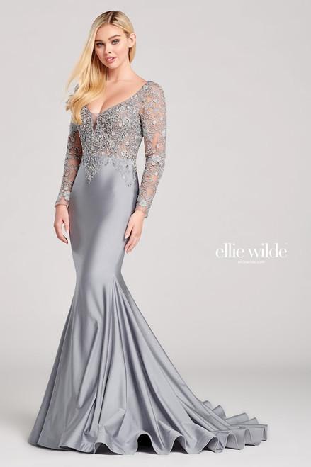 Ellie Wilde by Mon Cheri EW22028 Long Sleeve Gown