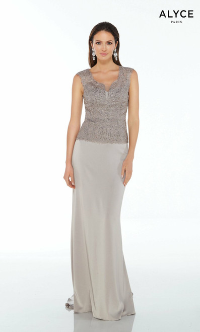 Alyce Paris 27105 Sleeveless Open Back Corset Long Dress