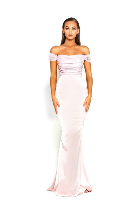 Portia and Scarlett PS1914 Off Shoulder Short Sleeve Gown