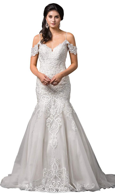 Dancing Queen 0100 Lace Embroidered Trumpet Dress