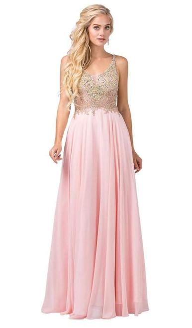 Dancing Queen 2494 Jewel Encrusted Bodice ?Chiffon Gown