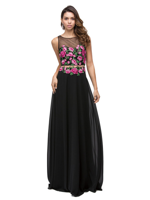 Dancing Queen 9800 Two-piece Embroidered Applique Dress