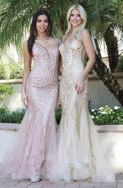Dancing Queen 2972 Sleeveless Embellished V-Neck Dress