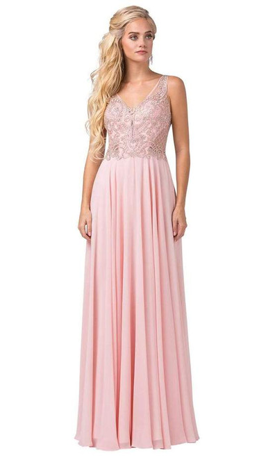 Dancing Queen 2647 Sleeveless Embellished V-neck Long Gown