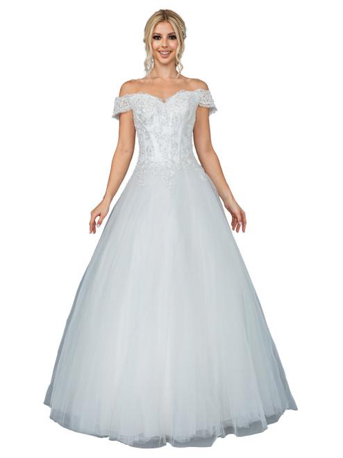 Dancing Queen 0212 Embellished Sweetheart Long Ballgown