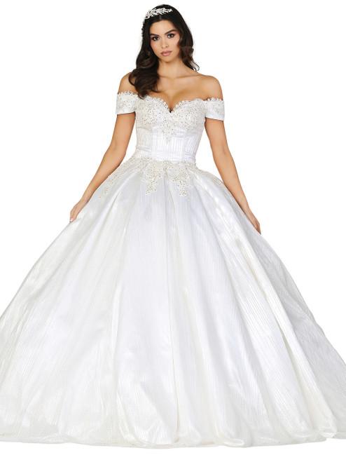 Dancing Queen 0147 Off-shoulder Embellished A-line Dress