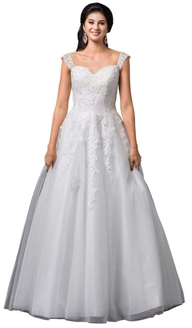 Dancing Queen 0099 Sleeveless Lace Sweetheart Gown