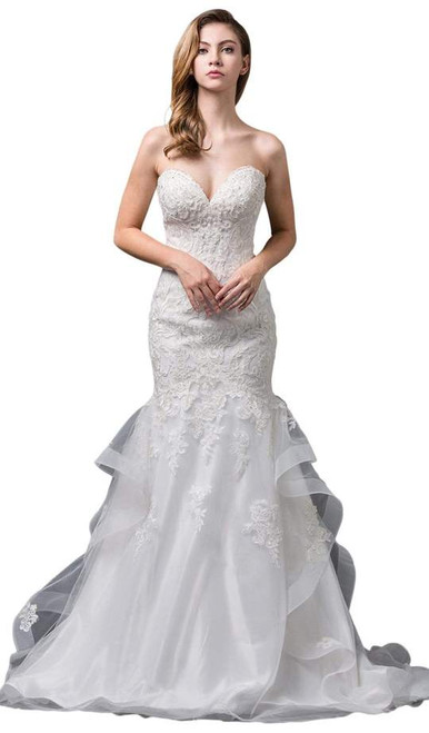 Dancing Queen 0083 Strapless Embroidered Sweetheart Gown