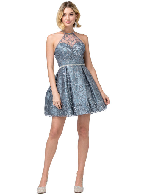 Dancing Queen 3224 Sleeveless Strappy Halter A-line Dress