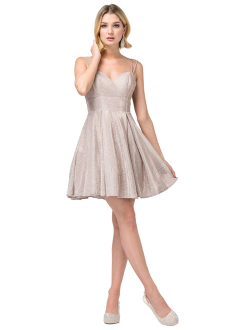 Dancing Queen 3143 Sleeveless Sweetheart A-line Short Dress