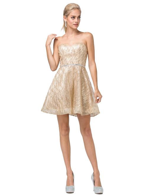 Dancing Queen 3136 Embellished Strapless Sweetheart Dress