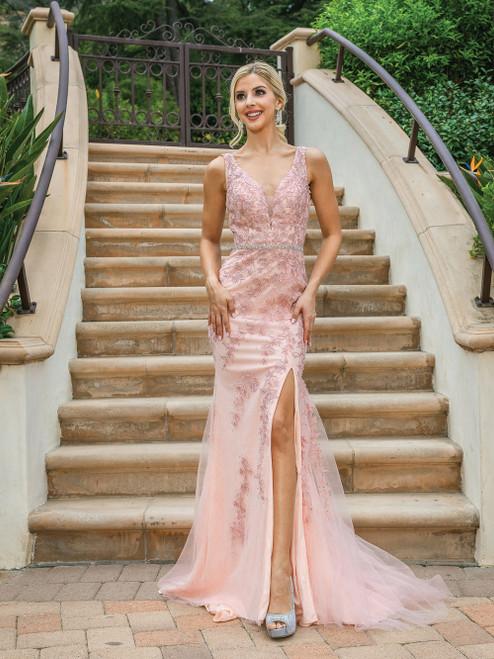 Dancing Queen 4212 Silhouette Glittering Sleeveless Dress