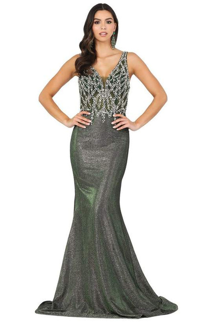 Dancing Queen 2941 Sleeveless Embellished V Back Long Gown