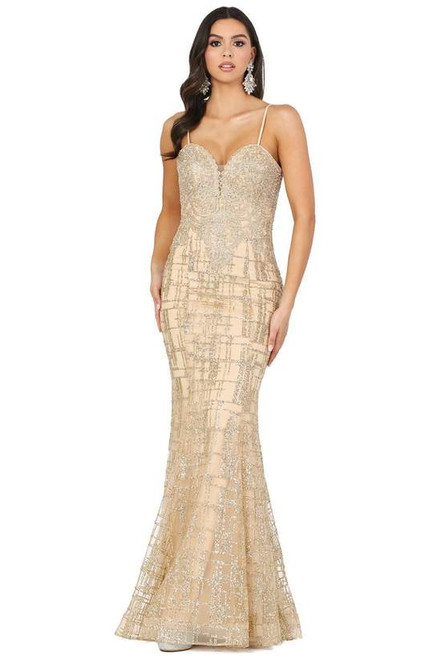 Dancing Queen 2910 Appliqued Bodice Glitter Accented Gown