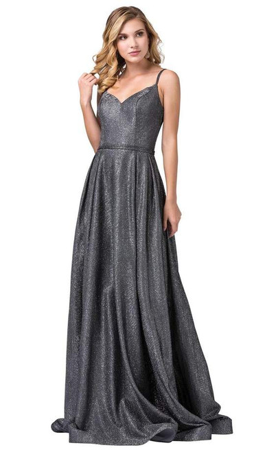 Dancing Queen 2720 Sleeveless Sweep Train V-neck Long Gown
