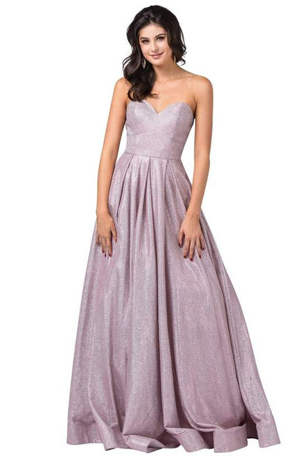 Dancing Queen 2651 Strapless Sweetheart Fitted Bodice Dress