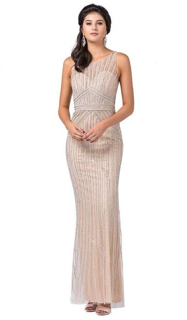 Dancing Queen 2529 Sleeveless Embellished Scoop Long Dress