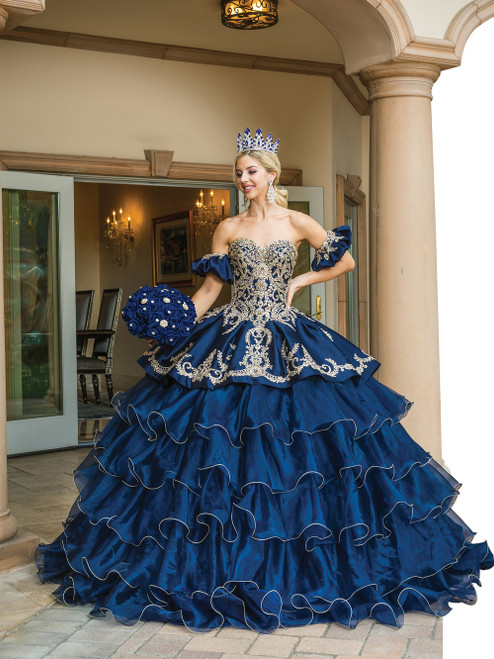 Dancing Queen 1637 Embellished Sweetheart Tiered Ballgown