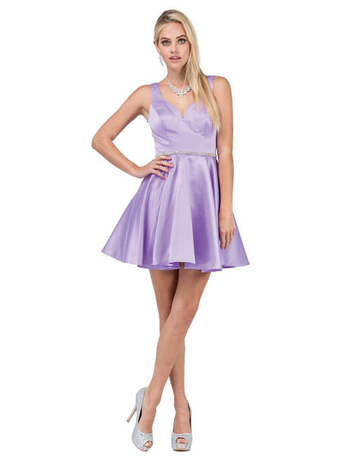 Dancing Queen 9504 Sleeveless Sweetheart A-line Short Dress