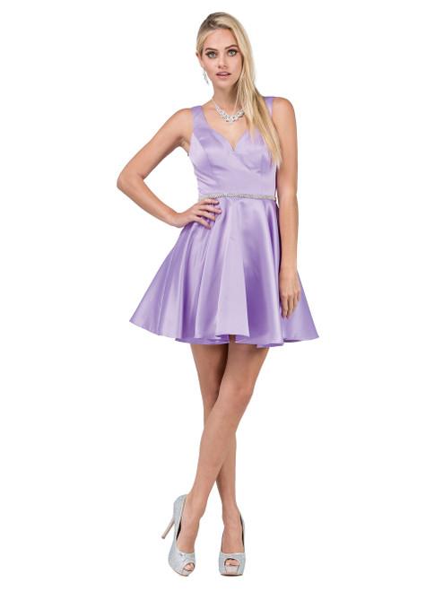 Dancing Queen 9504 Sleeveless Sweetheart A-line Short Dress