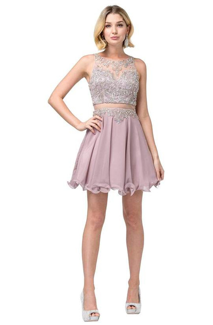 Dancing Queen 3052 Sleeveless Embellished Halter Dress