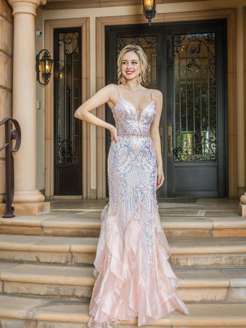 Dancing Queen 4221 Flare Silhouette Sleeveless V-neck Dress