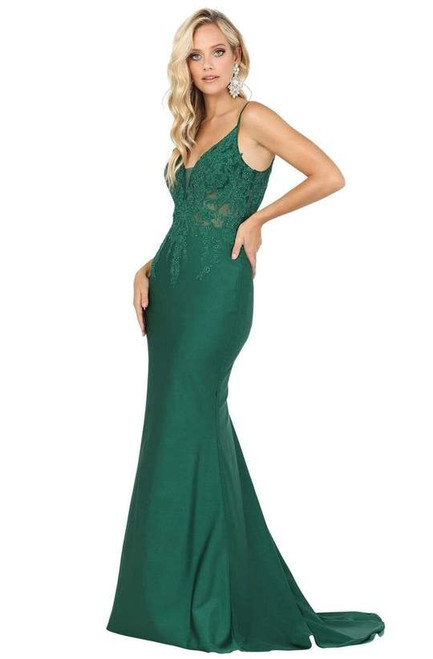 Dancing Queen 4001 Embroidery Appliqued Bodice Trumpet Gown