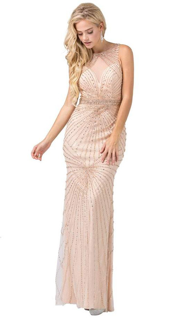 Dancing Queen 2615 Sleeveless Beaded Illusion Jewel Gown