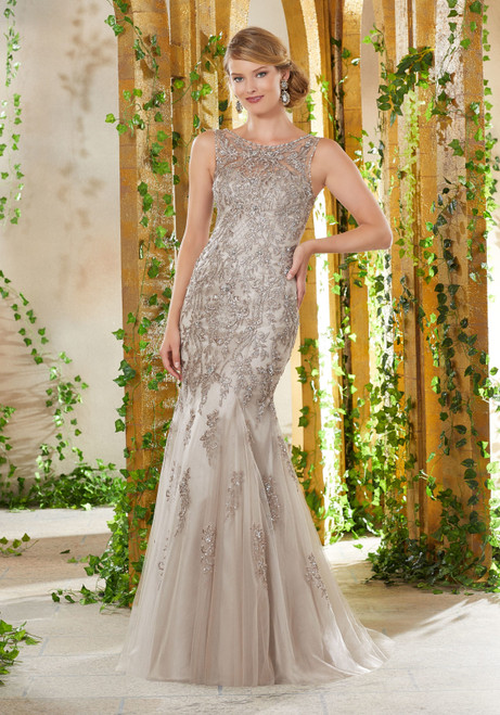 Morilee MGNY 71907 Beaded Bodice Embroidery Evening Gown