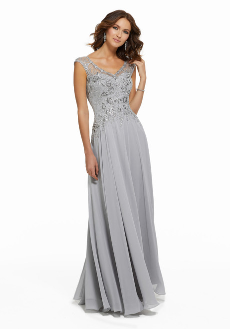 Morilee MGNY 72021 Beaded Lace Appliques Evening Long Gown