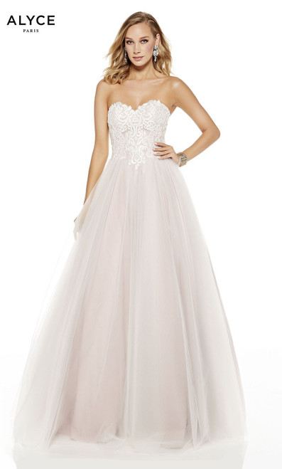 Alyce Paris 60617 Lace Up Back Strapless Long Ball Gown