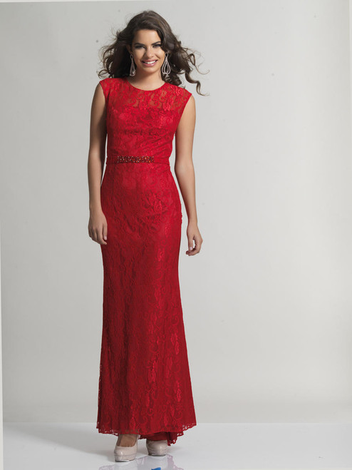 Dave & Johnny 1399 Long A Line Prom Dress