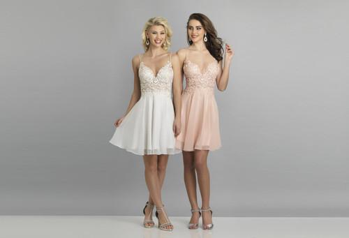 Dave & Johnny A8003 Sleeveless Short A-line Dress