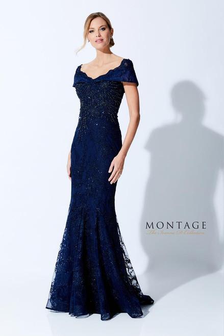 Ivonne D by Mon Cheri 221D42 V-Neck Fit and Flare Dress