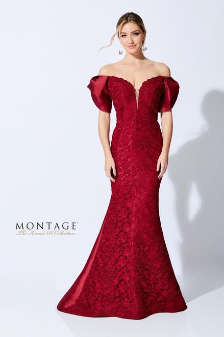Ivonne D by Mon Cheri 221D46 Lace Plunging V-Neck Dress