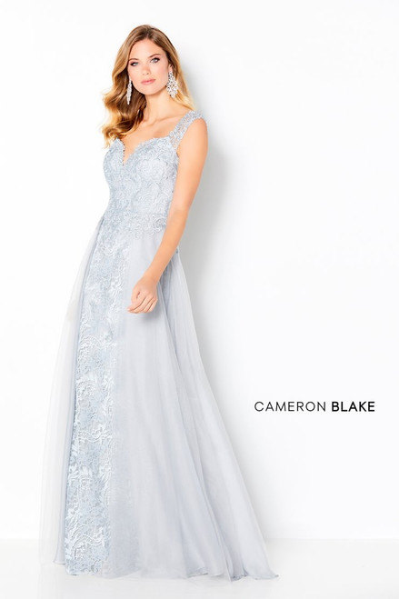 Cameron Blake by Mon Cheri 220640 Embroidered Lace Gown
