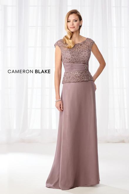 Cameron Blake by Mon Cheri 114657 Hand-beaded Illusion Dress