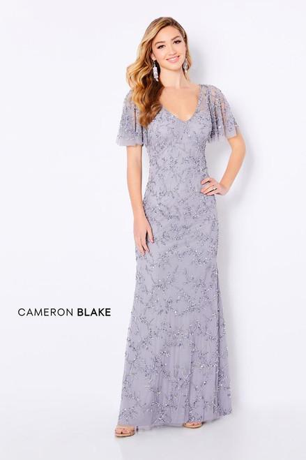 Cameron Blake by Mon Cheri 221681 Flutter Sleeve Long Dress